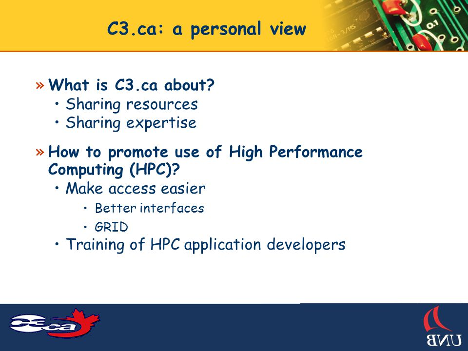 C3.ca: a personal view »What is C3.ca about.