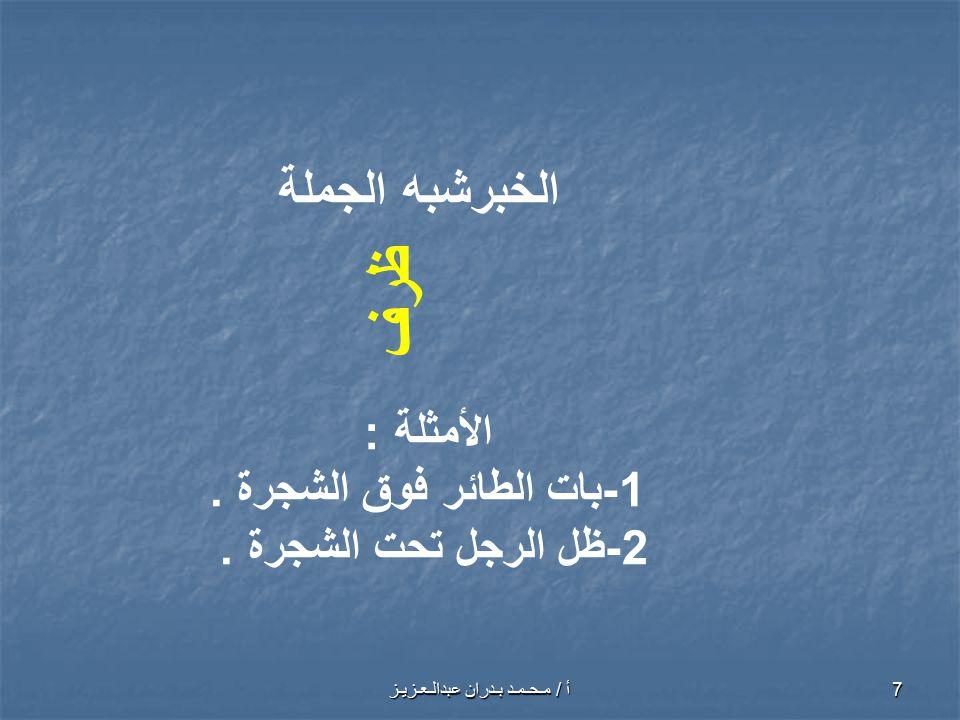 أ / مـحـمـد بـدران عبدالـعـزيـز 8 تدريبات استخرج الخبر ،وبين نوعه مما يأتي.