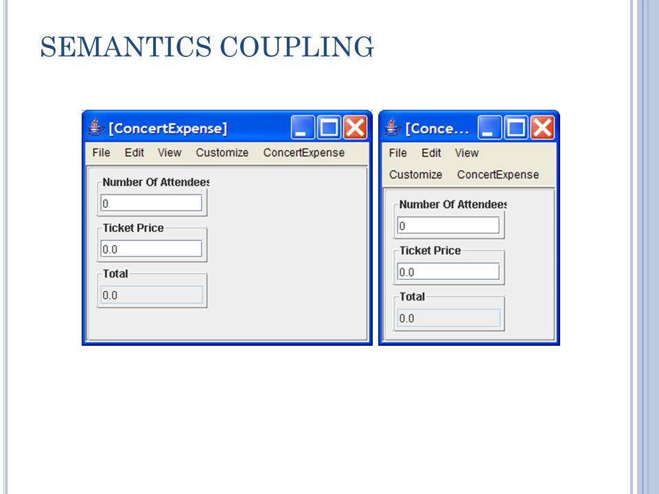 SEMANTICS COUPLING