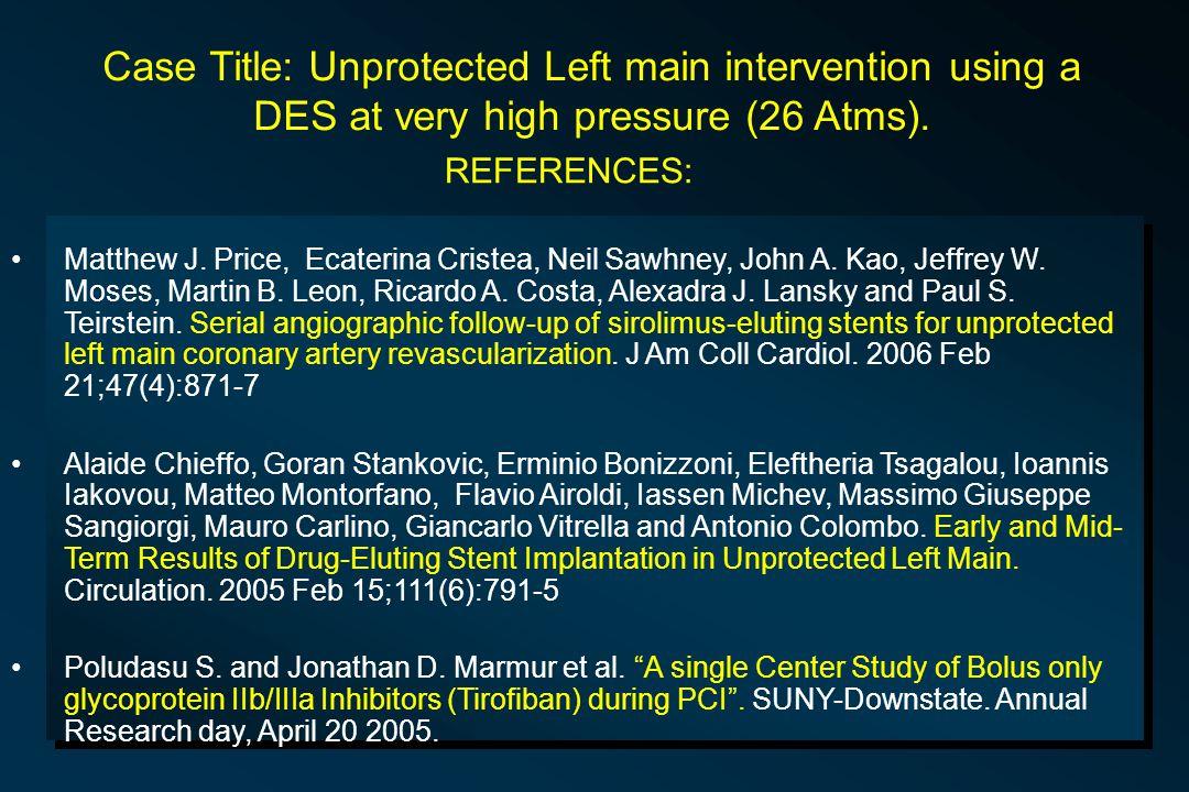 REFERENCES: Matthew J. Price, Ecaterina Cristea, Neil Sawhney, John A.