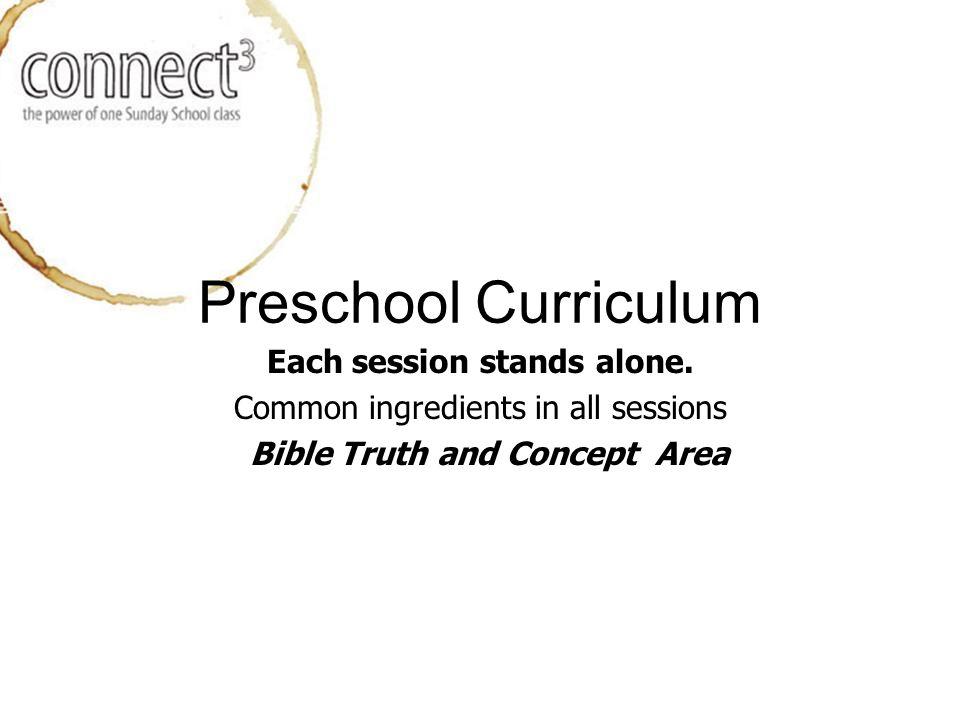 Preschool Curriculum Each session stands alone.