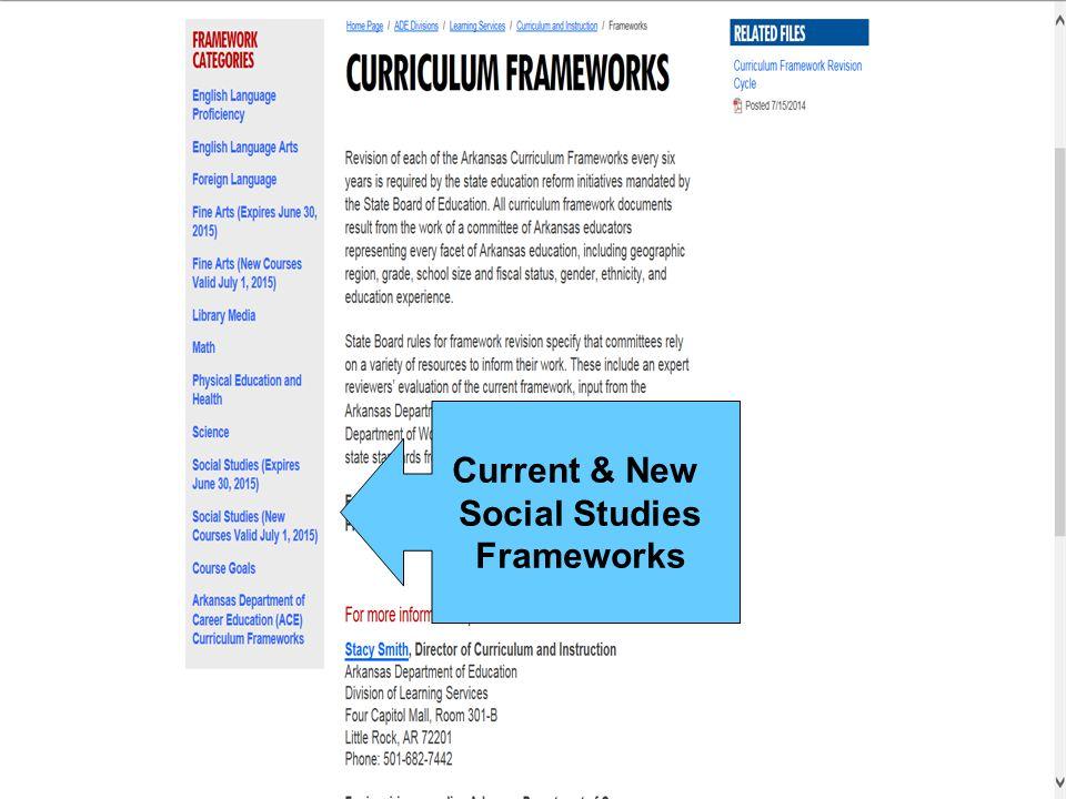 Current & New Social Studies Frameworks