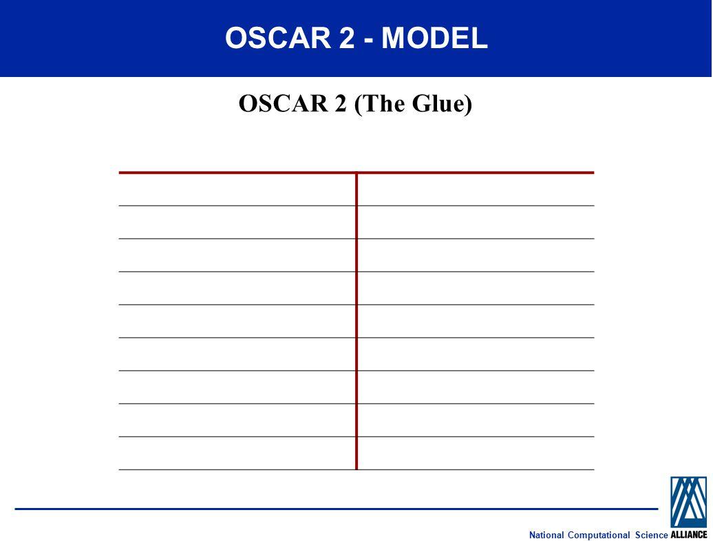 National Computational Science OSCAR 2 - MODEL OSCAR 2 (The Glue)
