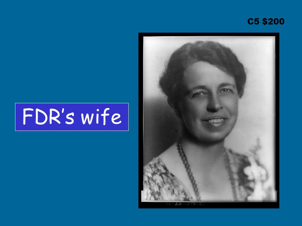 C5 $200 FDR's wife