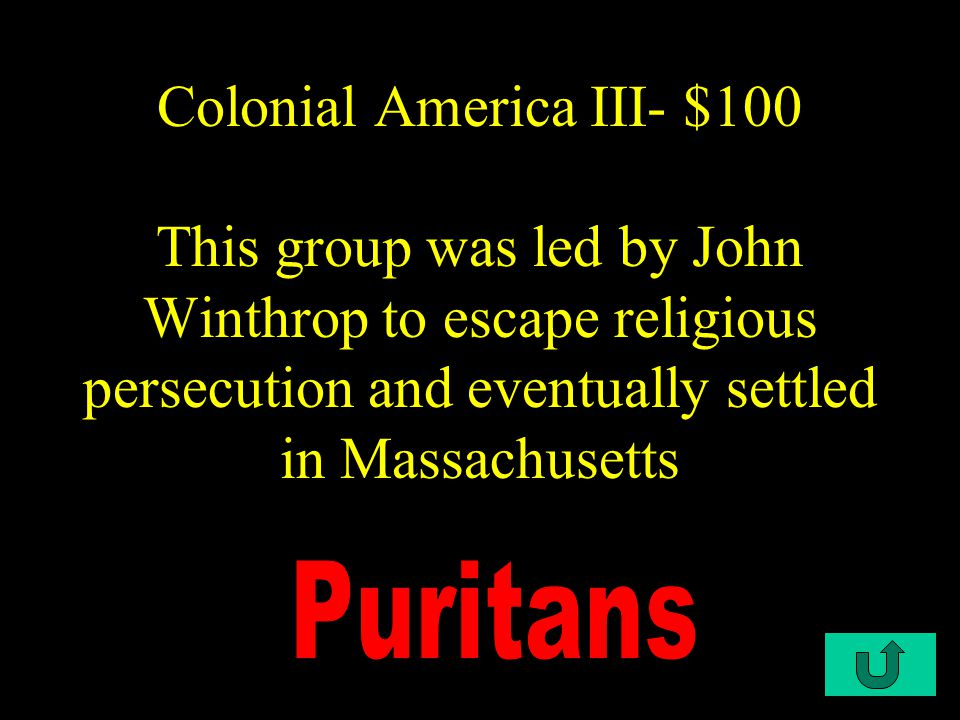 C2-$500 Colonial America II - $500 The Dutch West India Company tried to attract settlers to the New Netherlands by granting large estates to wealthy men who promised to bring a certain number of tenant farmers