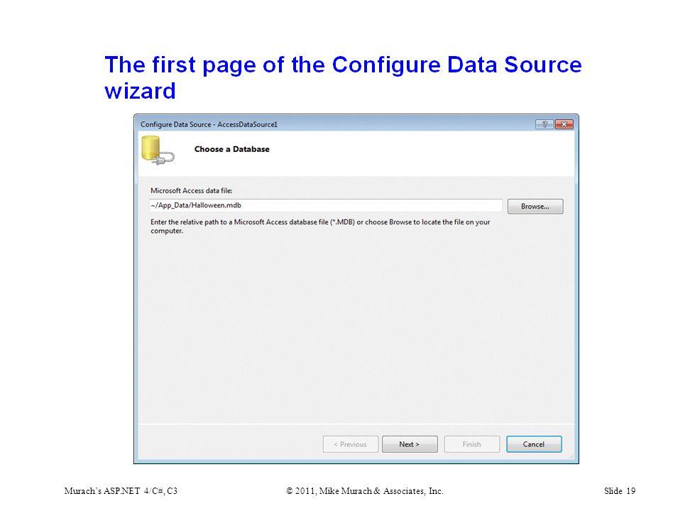 Murach's ASP.NET 4/C#, C3© 2011, Mike Murach & Associates, Inc.Slide 19