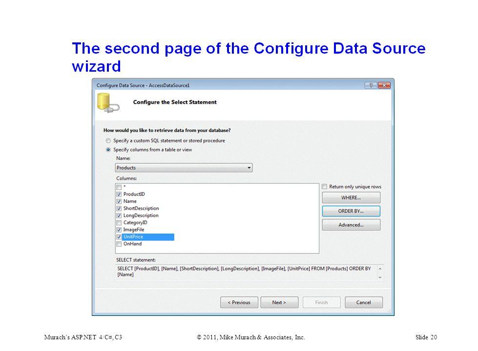 Murach's ASP.NET 4/C#, C3© 2011, Mike Murach & Associates, Inc.Slide 20