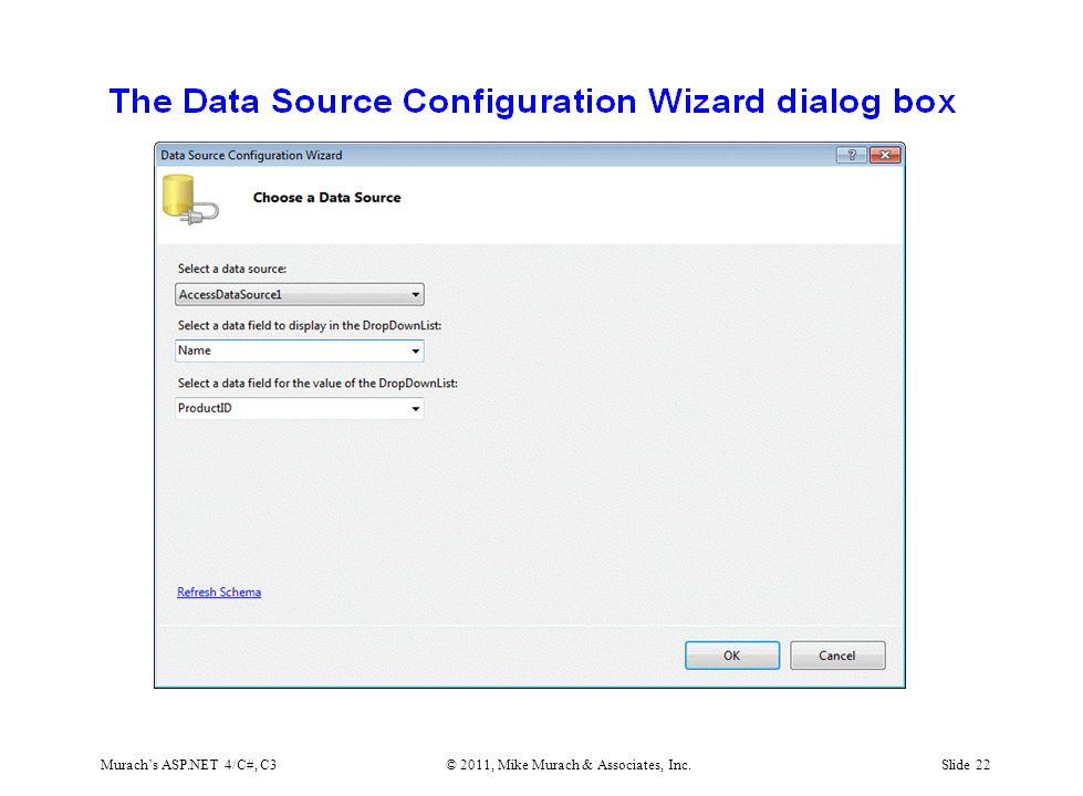 Murach's ASP.NET 4/C#, C3© 2011, Mike Murach & Associates, Inc.Slide 22