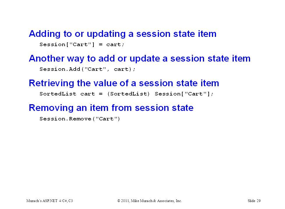 Murach's ASP.NET 4/C#, C3© 2011, Mike Murach & Associates, Inc.Slide 29