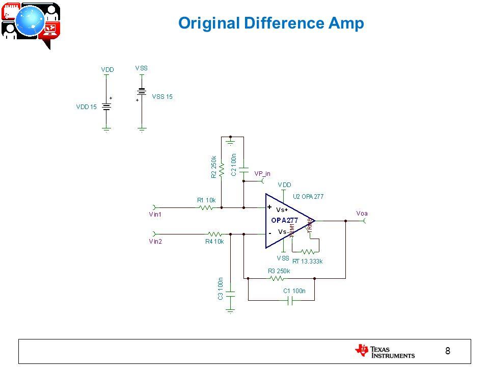 9 Original Difference Amp – Vin1 Xfer