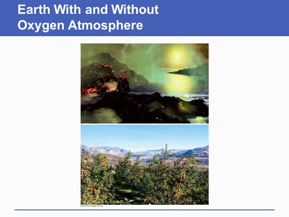 Earth With and Without Oxygen Atmosphere