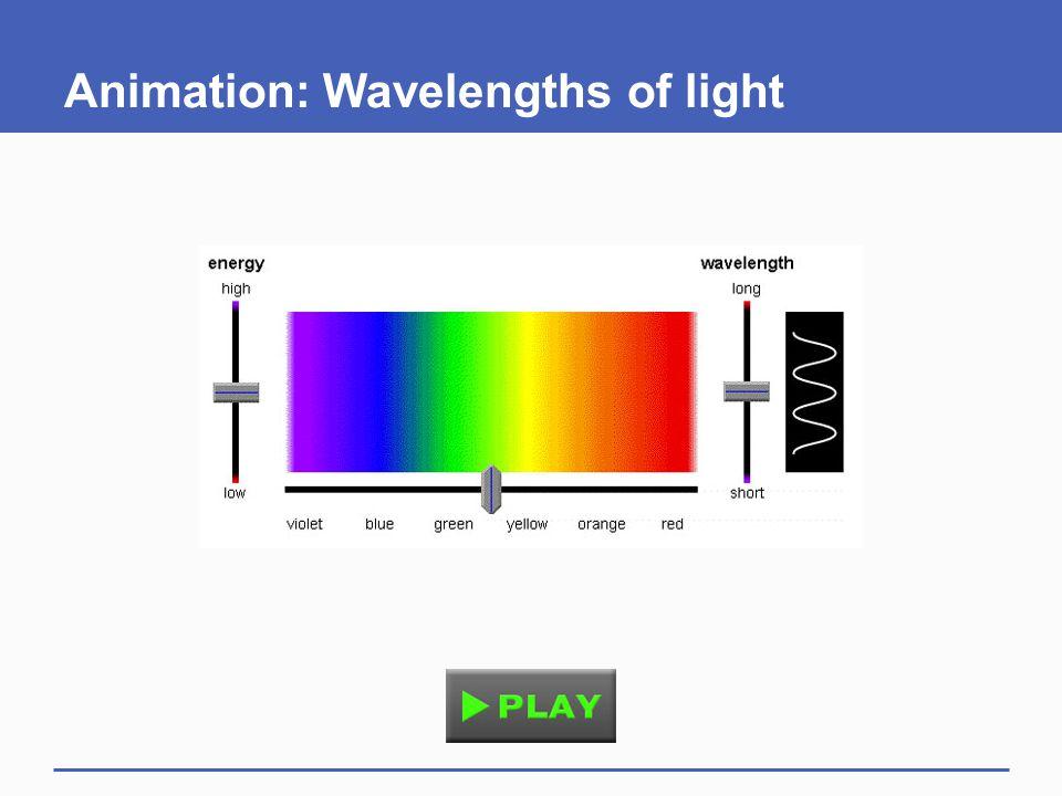 Animation: Wavelengths of light