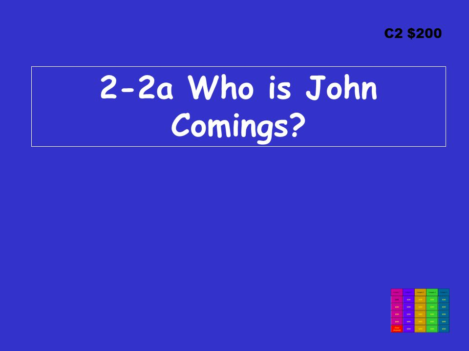 C2 $200 2-2a Who is John Comings