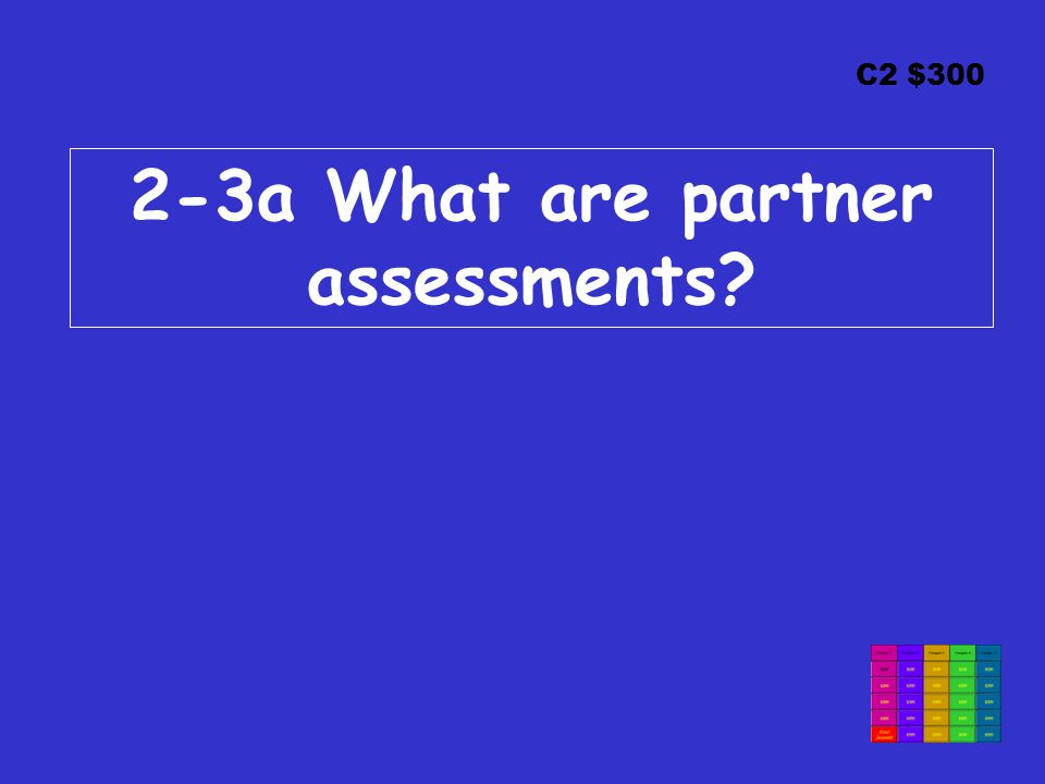 C2 $300 2-3a What are partner assessments