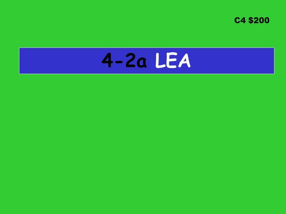 C4 $200 4-2a LEA