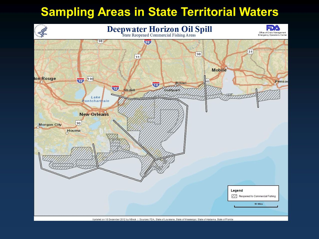 Sampling Areas in State Territorial Waters