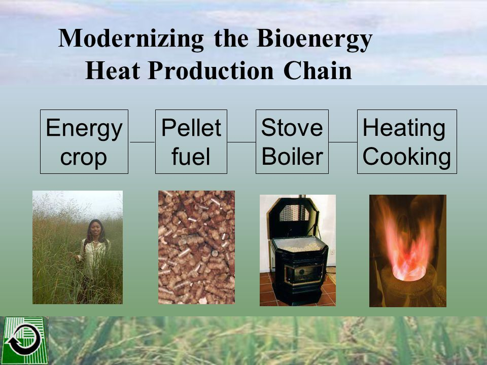 Modernizing the Bioenergy Heat Production Chain Energy crop Pellet fuel Stove Boiler Heating Cooking