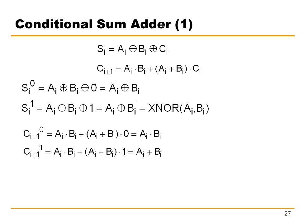 27 Conditional Sum Adder (1)