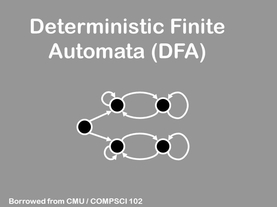Deterministic Finite Automata (DFA) Borrowed from CMU / COMPSCI 102