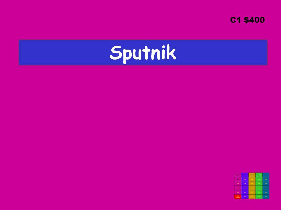Sputnik C1 $400