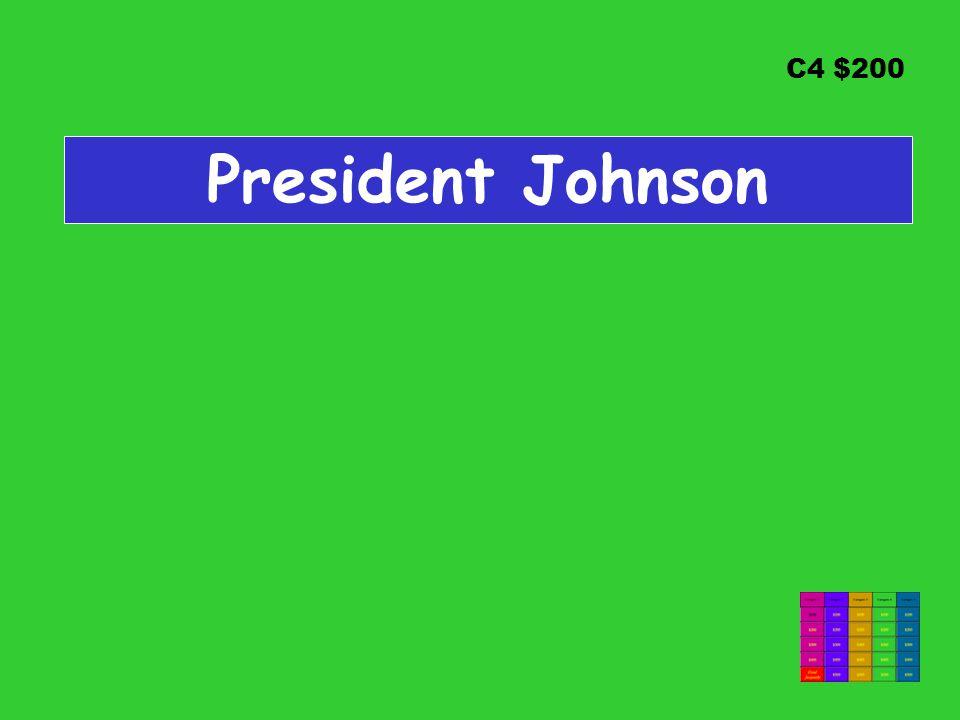 C4 $200 President Johnson