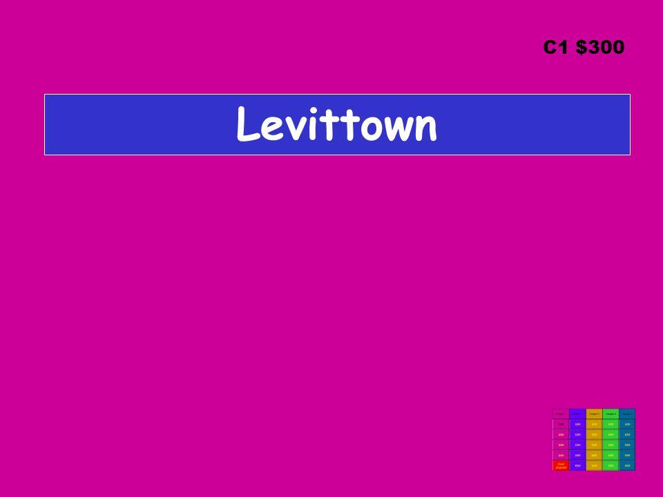 Levittown C1 $300
