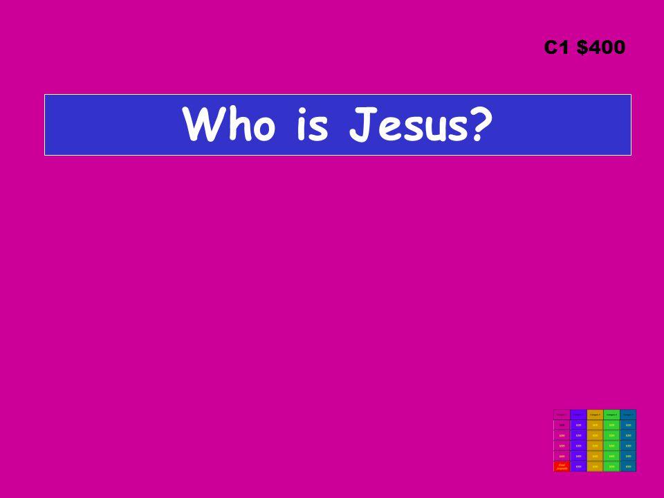 Who is Jesus? C1 $400