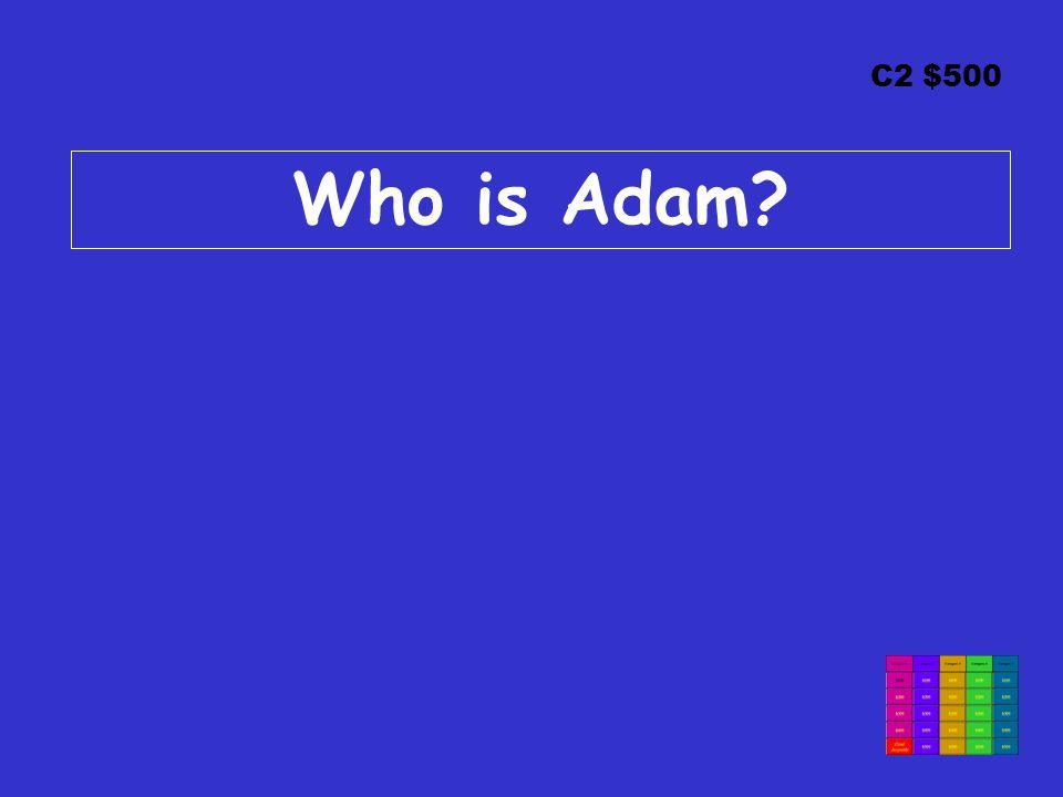 C2 $500 Who is Adam?