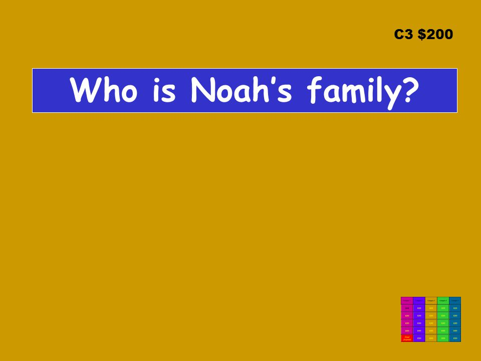 C3 $200 Who is Noah's family?