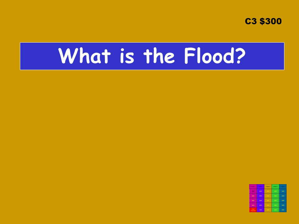 C3 $300 What is the Flood?