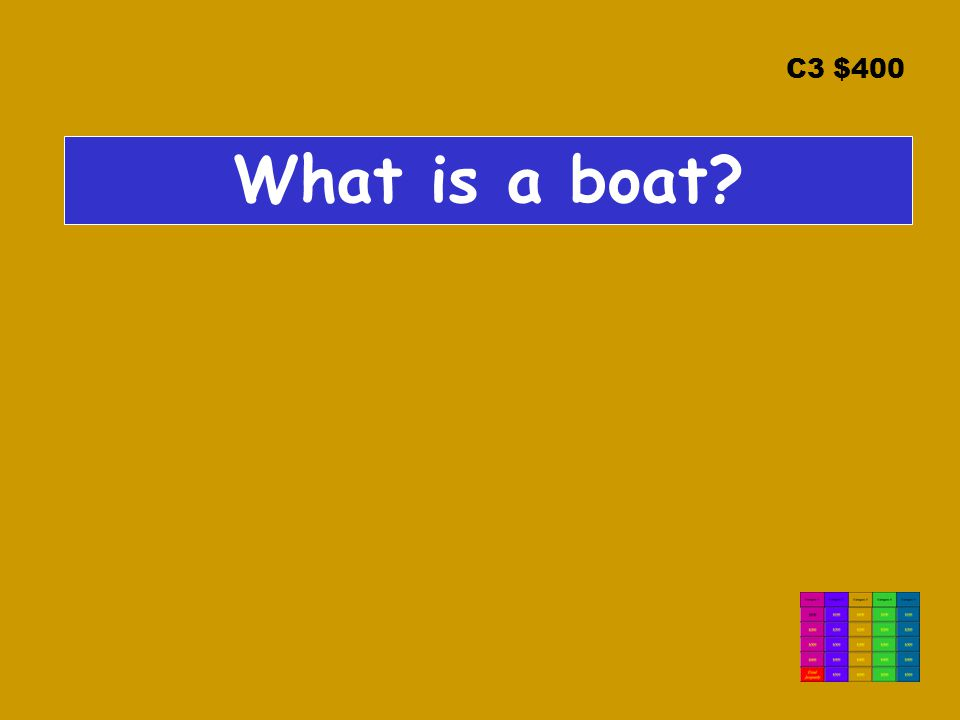 C3 $400 What is a boat