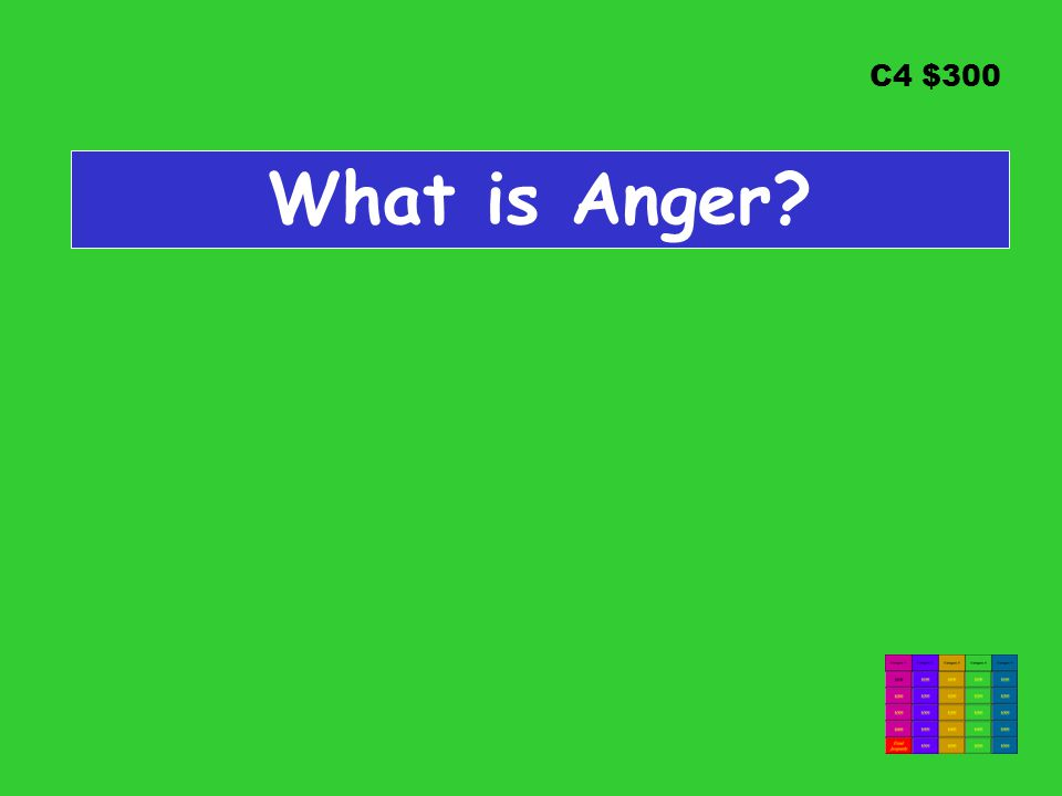 C4 $300 What is Anger?