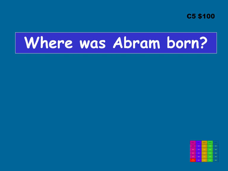 C5 $100 Where was Abram born?