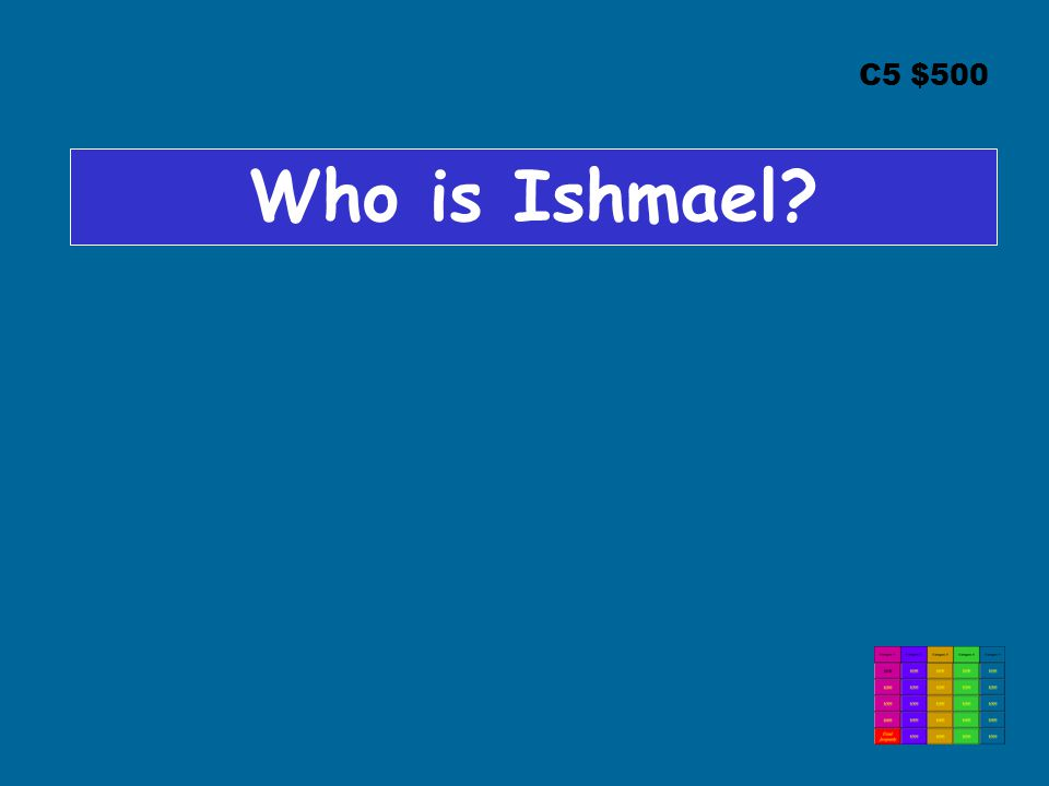 C5 $500 Who is Ishmael?
