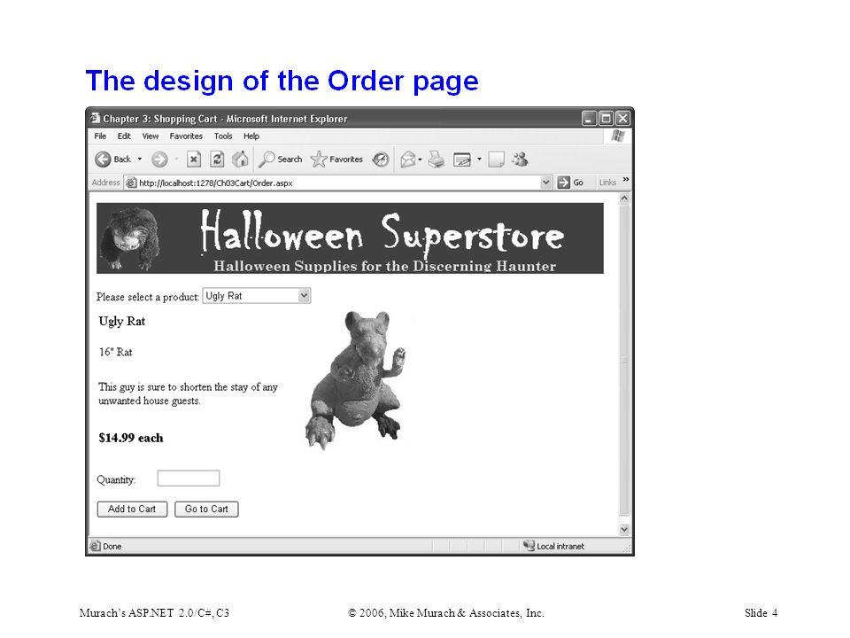 Murach's ASP.NET 2.0/C#, C3© 2006, Mike Murach & Associates, Inc.Slide 4