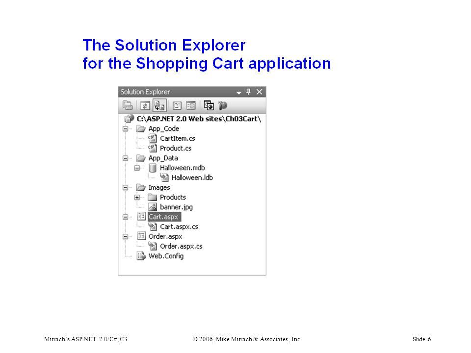 Murach's ASP.NET 2.0/C#, C3© 2006, Mike Murach & Associates, Inc.Slide 6