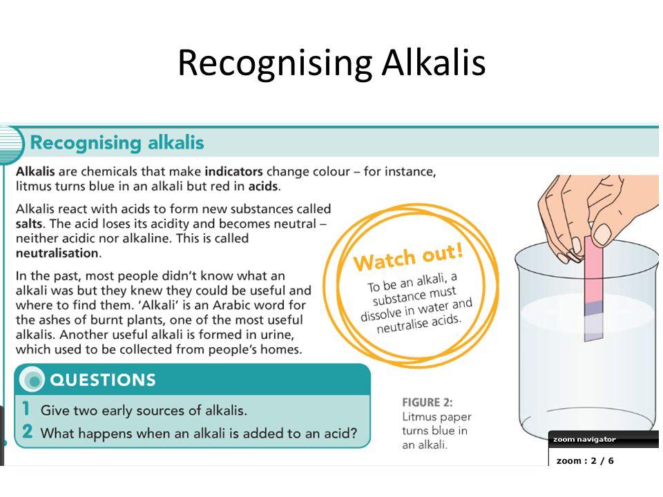 Recognising Alkalis
