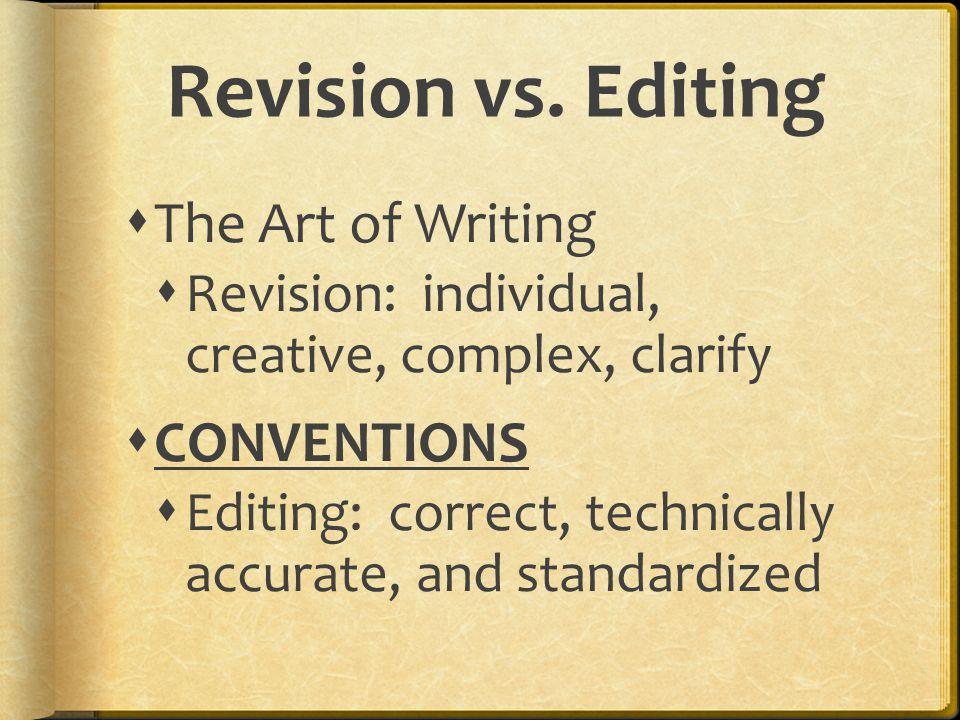 Revision vs.