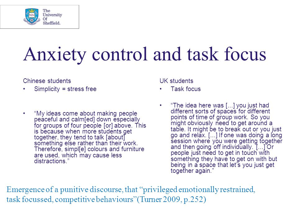 "Anxiety control and task focus Chinese students Simplicity = stress free ""My ideas come about making people peaceful and calm[ed] down especially for"