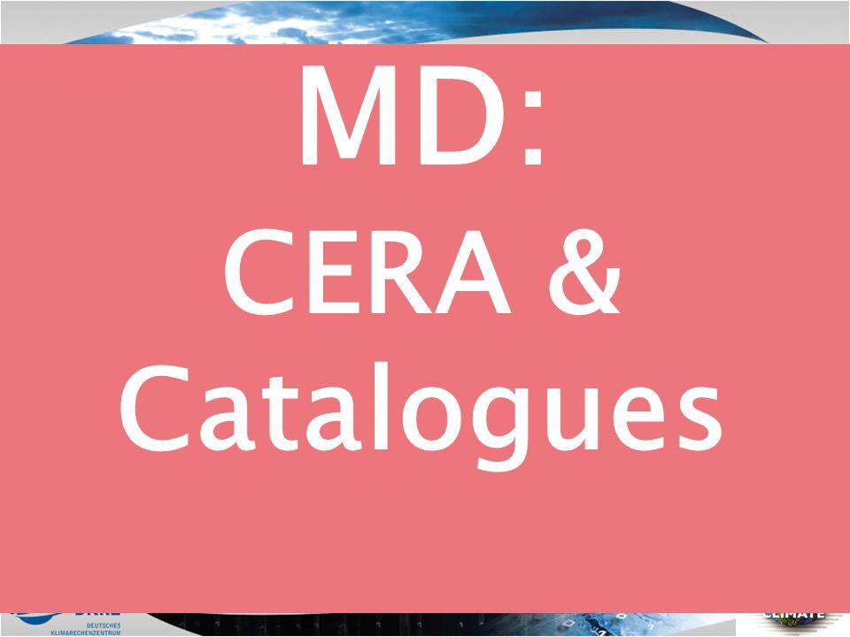 MD: CERA & Catalogues