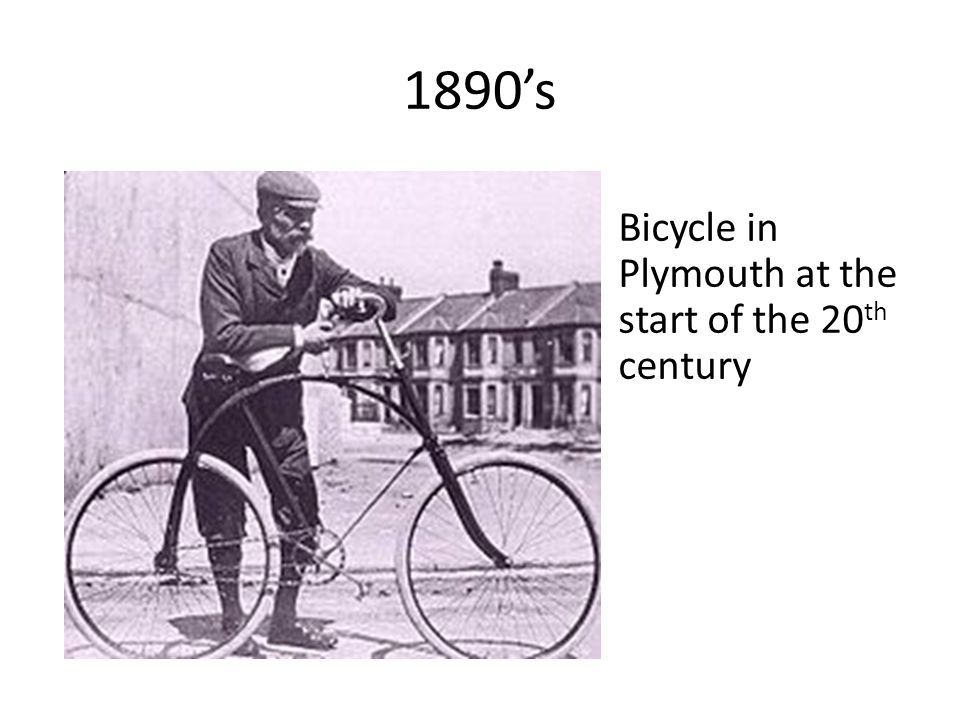 1890's Bicycle in Plymouth at the start of the 20 th century