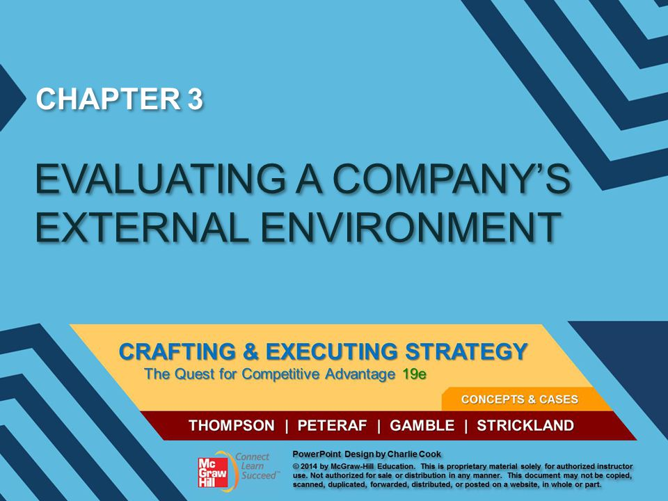 CHAPTER 3 EVALUATING A COMPANY'S EXTERNAL ENVIRONMENT
