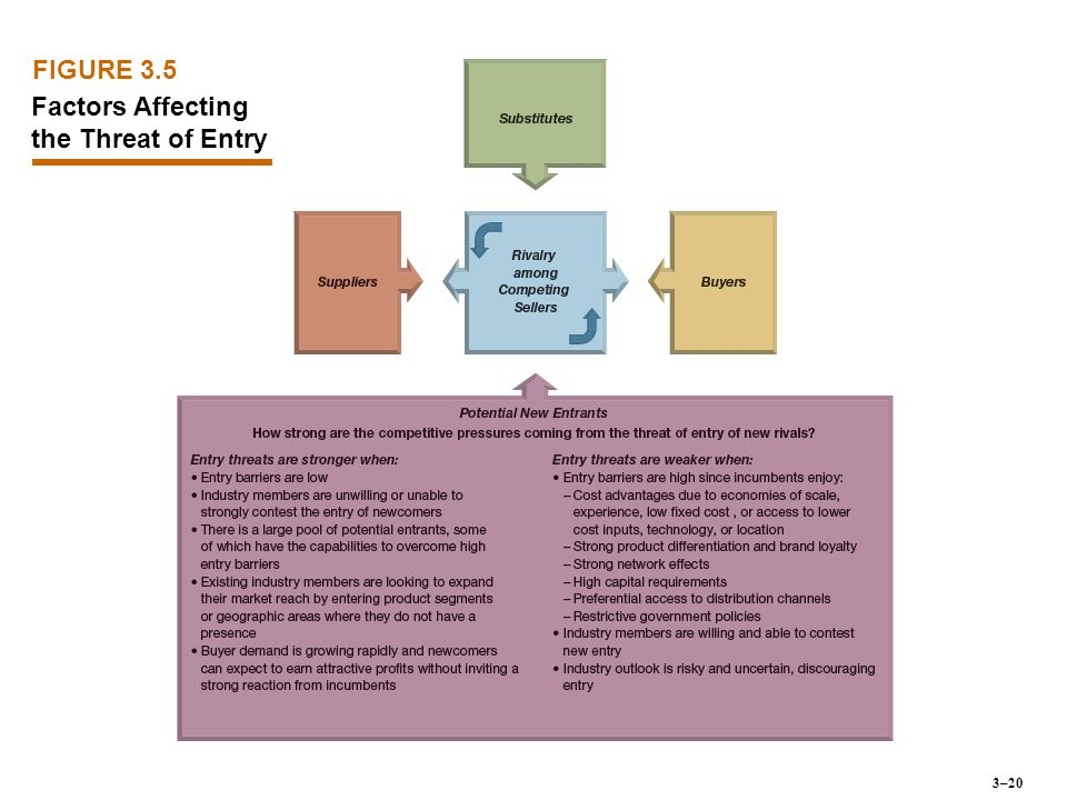 FIGURE 3.5 Factors Affecting the Threat of Entry 3–20