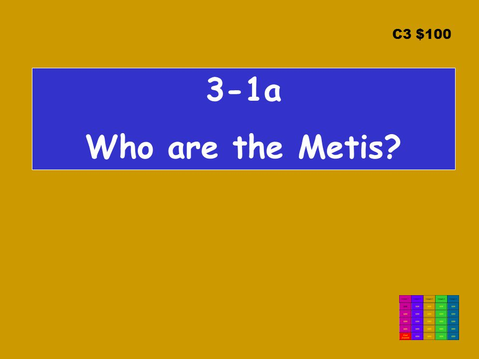 C3 $100 3-1a Who are the Metis