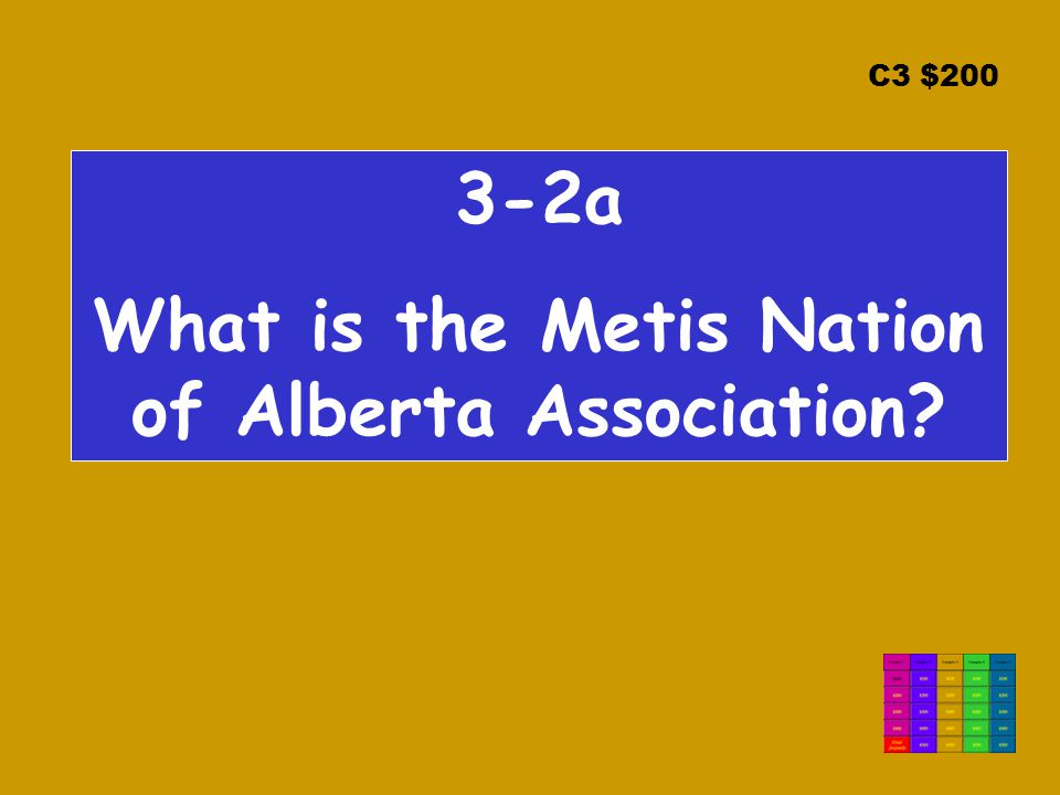 C3 $200 3-2a What is the Metis Nation of Alberta Association