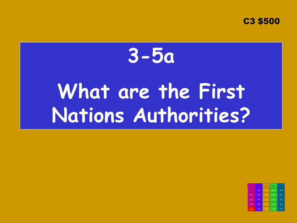 C3 $500 3-5a What are the First Nations Authorities