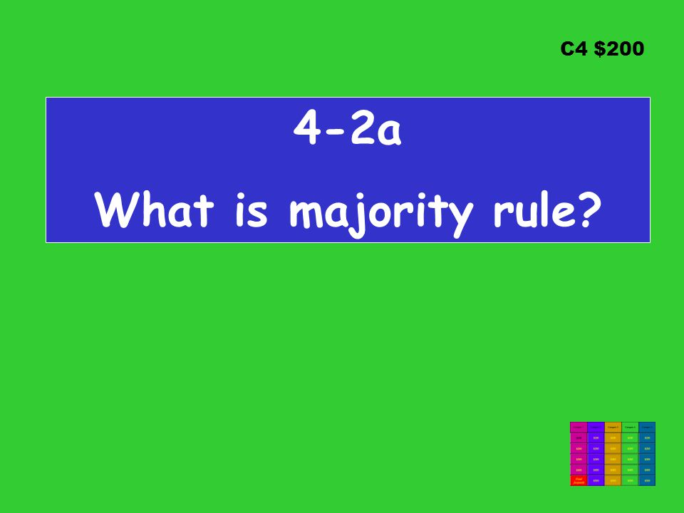 C4 $200 4-2a What is majority rule