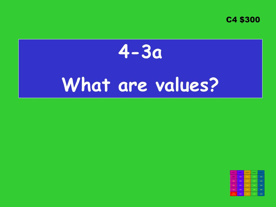 C4 $300 4-3a What are values