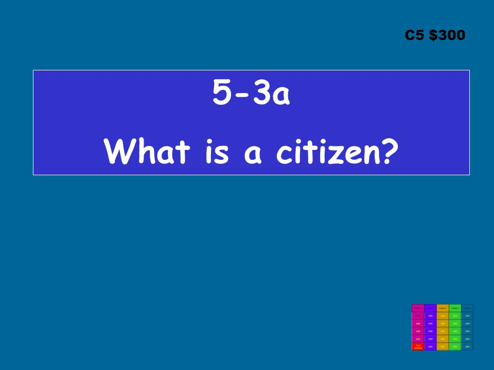 C5 $300 5-3a What is a citizen