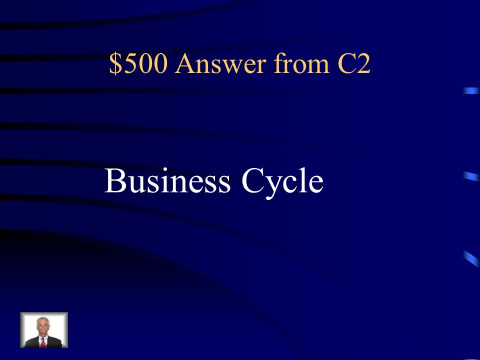 $500 Question from C2 A period of macroeconomic expansion followed by a period of contraction